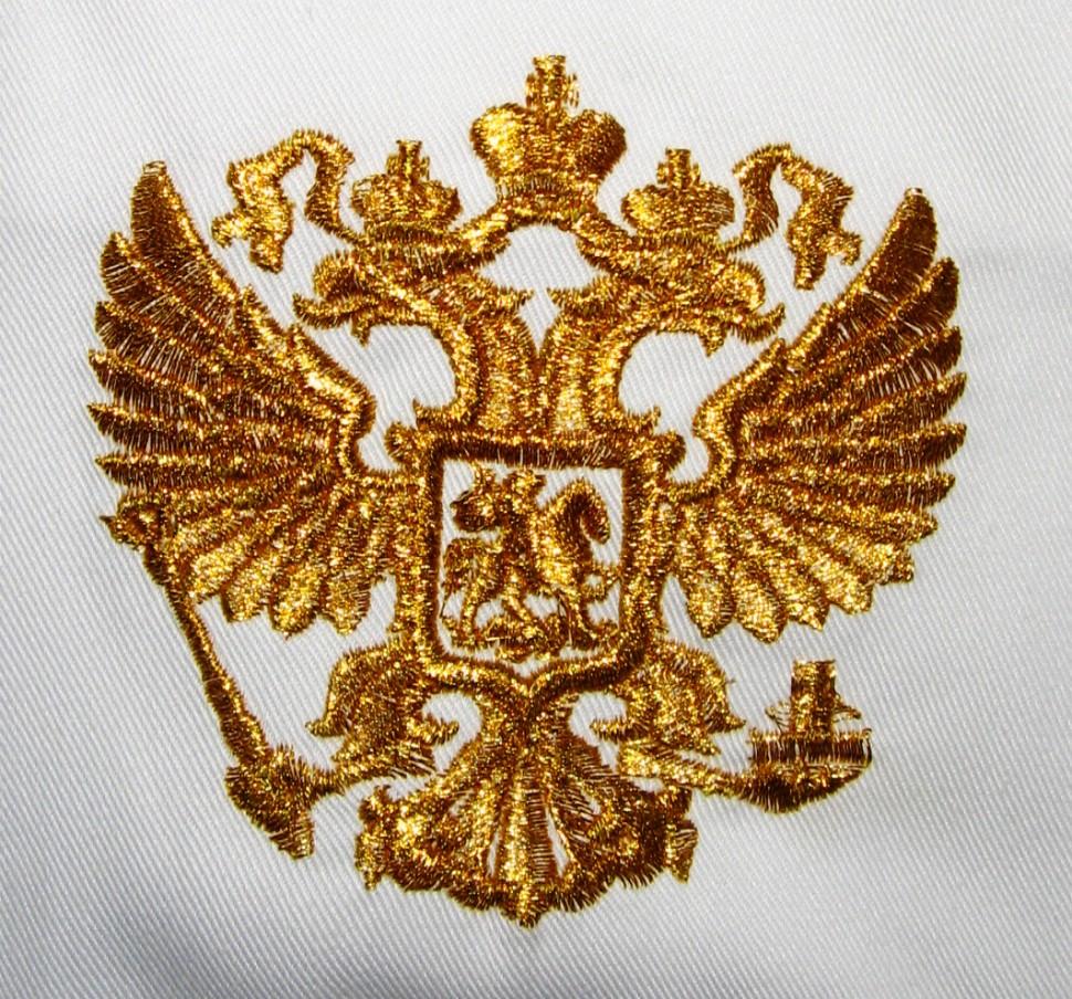 Вышивка государственной символики