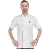 CC16 LW - Китель повара легкий белый E-Chef. Короткий рукав