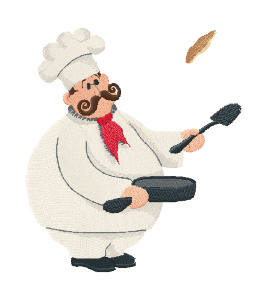 Вышивка  French chef №3