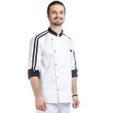 MR 02 - Китель поварской с полосками на рукавах E-Chef