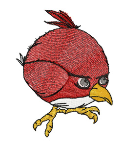 Вышивка  Angry bird red
