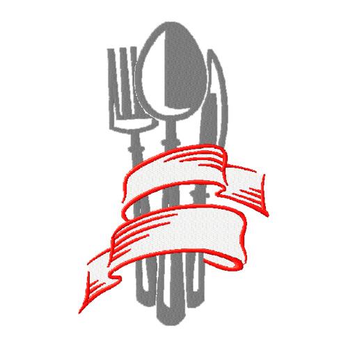 E-chef - Вышивка Столовые приборы: http://e-chef.ru/vyshivka-vilka-lozhka-nozh/